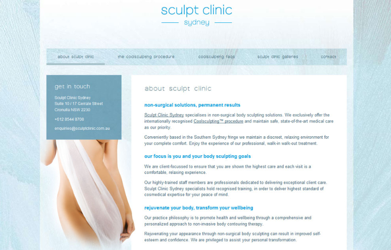 Sculpt Clinic ~ sculptclinic.com.au ~ Website Text