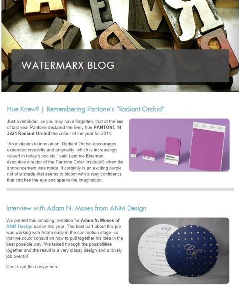 Watermarx Graphics ~ Blogging