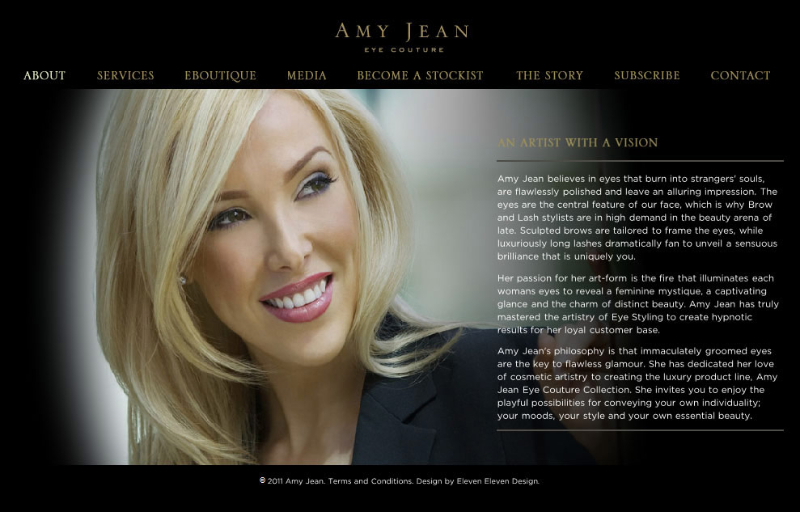 Amy Jean Eye Couture ~ amyjean.com.au ~ Website Text