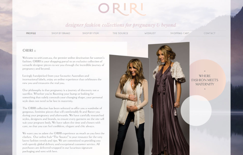 Oriri ~ oriri.com.au ~ Website Text
