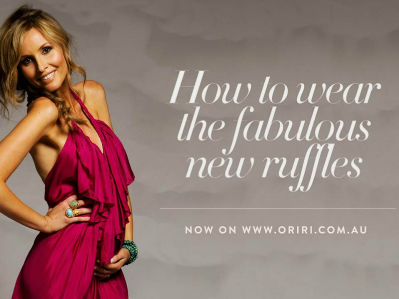 Oriri ~ Fashion Web Promotion ~ Advertising Copy